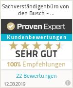 Sachverständigenbüro von den Busch - Kundenbewertung
